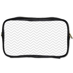Light Chevron Toiletries Bags 2 Side by jumpercat