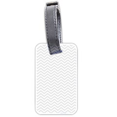 Light Chevron Luggage Tags (one Side)  by jumpercat