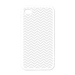 Light Chevron Apple Iphone 4 Case (white) by jumpercat