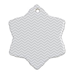 Light Chevron Snowflake Ornament (two Sides) by jumpercat