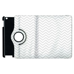 Light Chevron Apple Ipad 3/4 Flip 360 Case by jumpercat