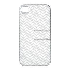 Light Chevron Apple Iphone 4/4s Hardshell Case With Stand by jumpercat