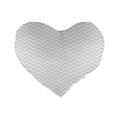 Light Chevron Standard 16  Premium Flano Heart Shape Cushions by jumpercat