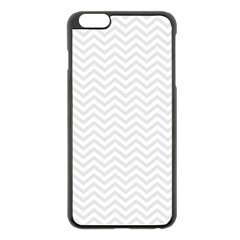 Light Chevron Apple Iphone 6 Plus/6s Plus Black Enamel Case by jumpercat