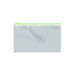 Light Chevron Cosmetic Bag (xs) by jumpercat