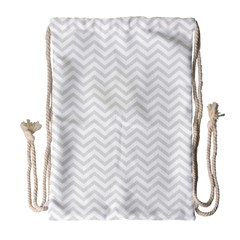 Light Chevron Drawstring Bag (large) by jumpercat