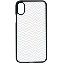 Light Chevron Apple Iphone X Seamless Case (black) by jumpercat