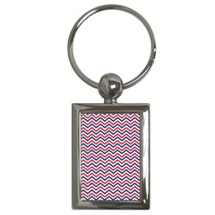 Navy Chevron Key Chains (rectangle)  by jumpercat