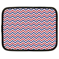 Navy Chevron Netbook Case (large) by jumpercat