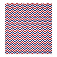 Navy Chevron Shower Curtain 66  X 72  (large)  by jumpercat