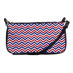 Navy Chevron Shoulder Clutch Bags by jumpercat