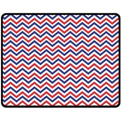 Navy Chevron Fleece Blanket (medium)  by jumpercat