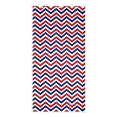 Navy Chevron Shower Curtain 36  X 72  (stall)  by jumpercat