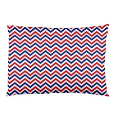 Navy Chevron Pillow Case (two Sides) by jumpercat