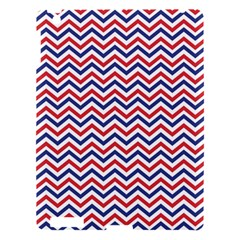 Navy Chevron Apple Ipad 3/4 Hardshell Case by jumpercat