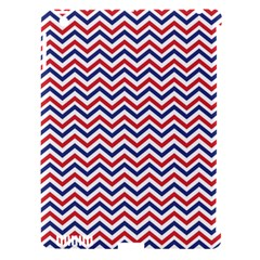 Navy Chevron Apple Ipad 3/4 Hardshell Case (compatible With Smart Cover) by jumpercat