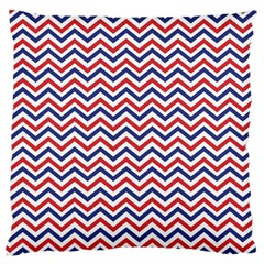 Navy Chevron Large Cushion Case (one Side) by jumpercat