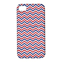 Navy Chevron Apple Iphone 4/4s Hardshell Case With Stand by jumpercat