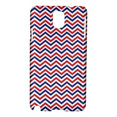 Navy Chevron Samsung Galaxy Note 3 N9005 Hardshell Case by jumpercat