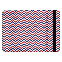 Navy Chevron Samsung Galaxy Tab Pro 12 2  Flip Case by jumpercat