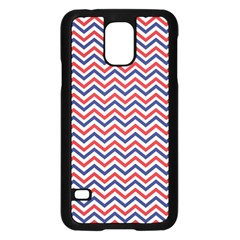 Navy Chevron Samsung Galaxy S5 Case (black) by jumpercat