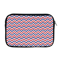 Navy Chevron Apple Macbook Pro 17  Zipper Case by jumpercat
