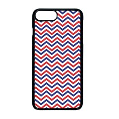 Navy Chevron Apple Iphone 8 Plus Seamless Case (black) by jumpercat