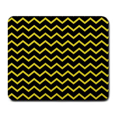 Yellow Chevron Large Mousepads