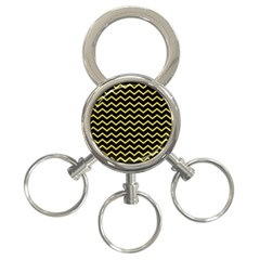 Yellow Chevron 3 Ring Key Chains by jumpercat