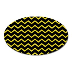 Yellow Chevron Oval Magnet