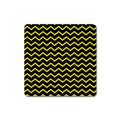 Yellow Chevron Square Magnet by jumpercat