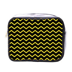 Yellow Chevron Mini Toiletries Bags by jumpercat