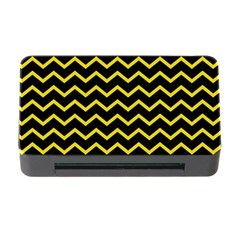 Yellow Chevron Memory Card Reader With Cf by jumpercat