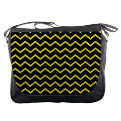 Yellow Chevron Messenger Bags by jumpercat