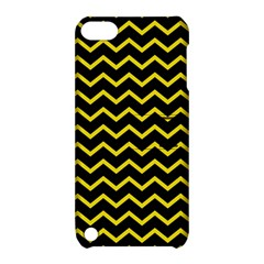 Yellow Chevron Apple Ipod Touch 5 Hardshell Case With Stand by jumpercat
