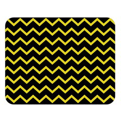 Yellow Chevron Double Sided Flano Blanket (large)  by jumpercat