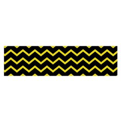 Yellow Chevron Satin Scarf (oblong) by jumpercat