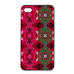 Christmas Colors Wrapping Paper Design Apple Iphone 4/4s Seamless Case (black) by Fractalsandkaleidoscopes