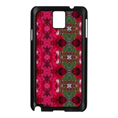 Christmas Colors Wrapping Paper Design Samsung Galaxy Note 3 N9005 Case (black) by Fractalsandkaleidoscopes
