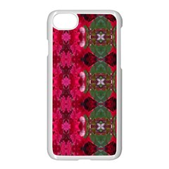 Christmas Colors Wrapping Paper Design Apple Iphone 8 Seamless Case (white) by Fractalsandkaleidoscopes