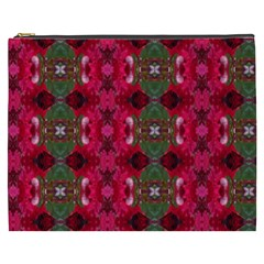 Christmas Colors Wrapping Paper Design Cosmetic Bag (xxxl)