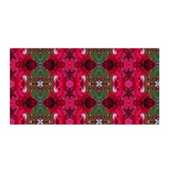 Christmas Colors Wrapping Paper Design Satin Wrap by Fractalsandkaleidoscopes