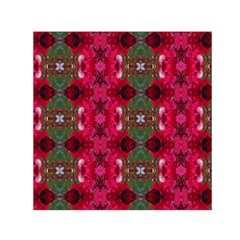 Christmas Colors Wrapping Paper Design Small Satin Scarf (square) by Fractalsandkaleidoscopes
