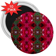 Christmas Colors Wrapping Paper Design 3  Magnets (10 Pack)  by Fractalsandkaleidoscopes