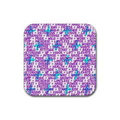 Hard Workout Rubber Coaster (square)