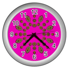 Sweet Hearts In  Decorative Metal Tinsel Wall Clocks (silver)