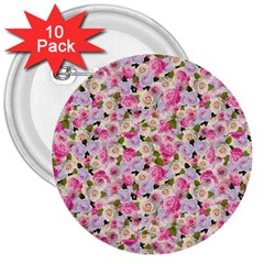 Gardenia Sweet 3  Buttons (10 Pack)