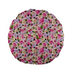 Gardenia Sweet Standard 15  Premium Round Cushions by jumpercat