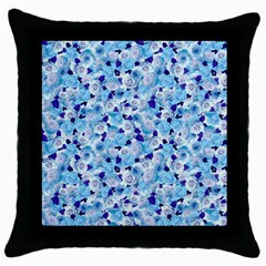 Gardenia Cold Throw Pillow Case (black) by jumpercat