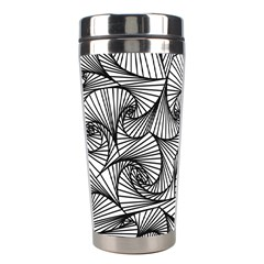 Fractal Sketch Light Stainless Steel Travel Tumblers